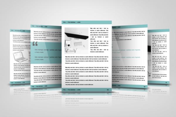 Pięć stron do edycji - Szablon do edycja e-booka worqAssist